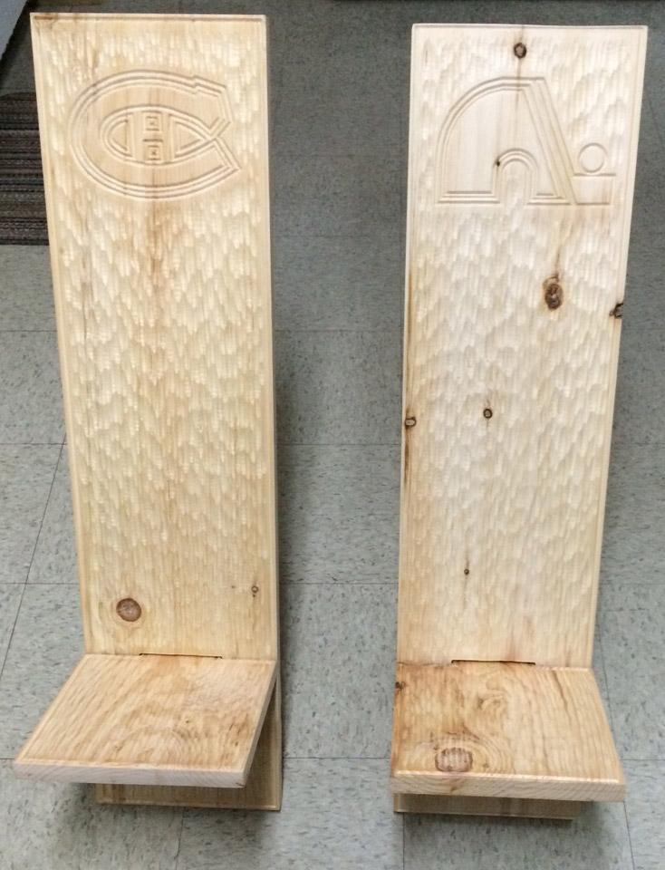 Ébénisterie Contemporaine - Chaise texturée personalisée